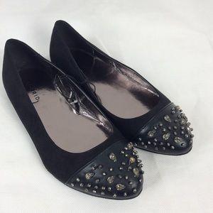 Torrid flats Nwot black/ metallic beaded  size 9